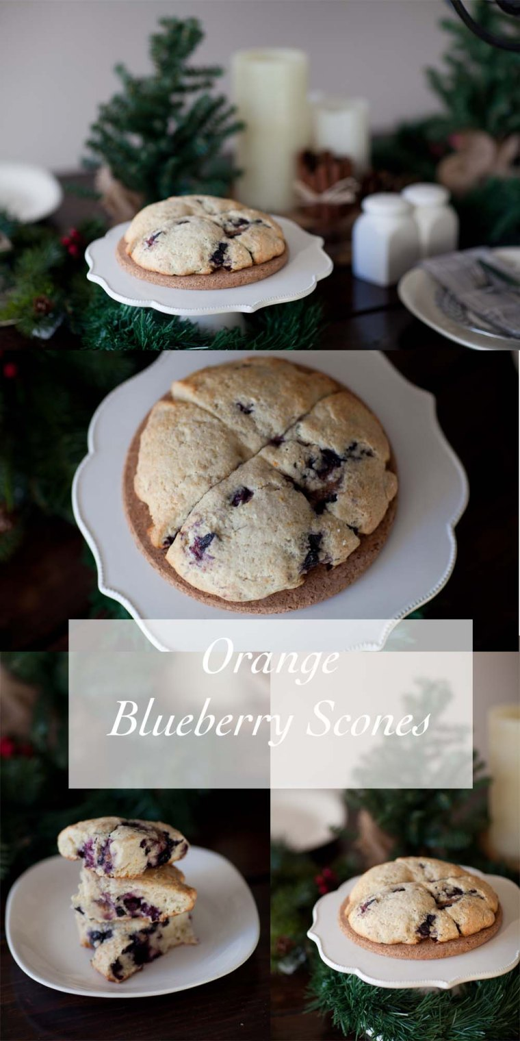 orangeblueberry scones