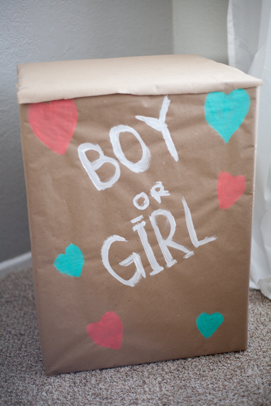 DIY Gender Reveal Balloon Box
