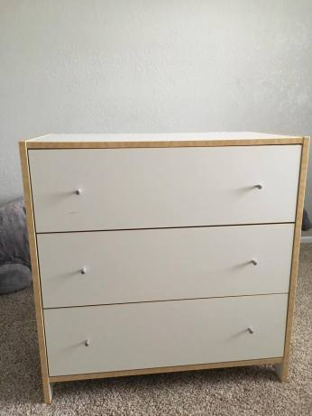 organizing ikea dresser for nursery
