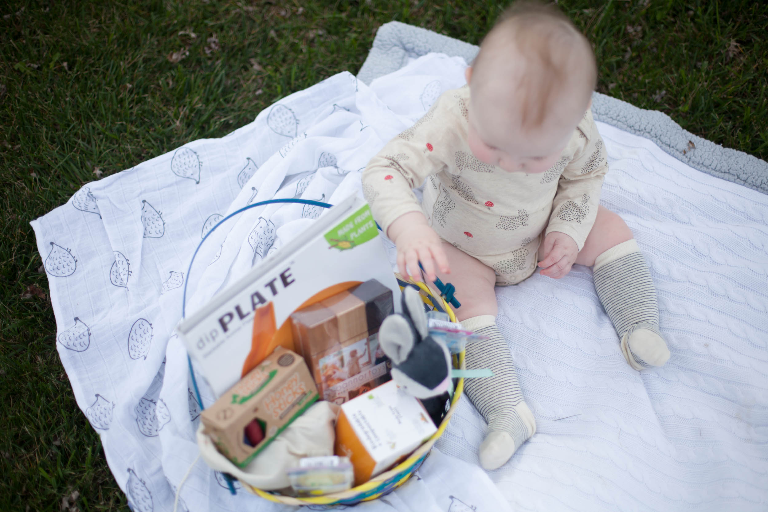 Baby easter baskets i teamed up with some of my favorite brands to create the perfect easter basket for my little guy he couldnt wait to dig into his basket negle Image collections