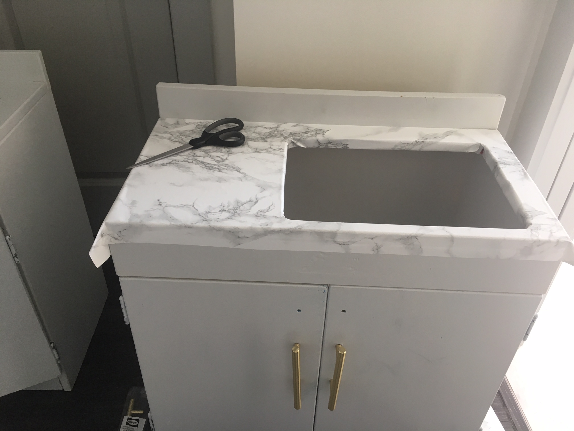 How To Apply Marble Contact Paper